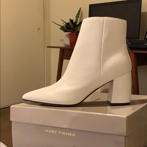 Marc Fisher White Retire Boots